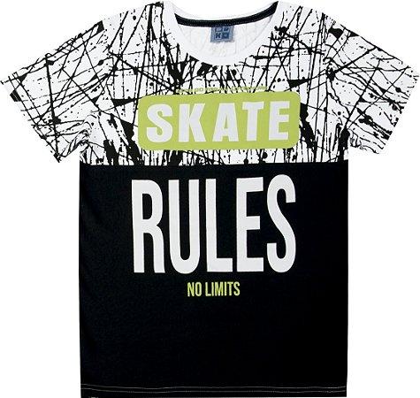 Camiseta Juvenil Menino Skate Branco