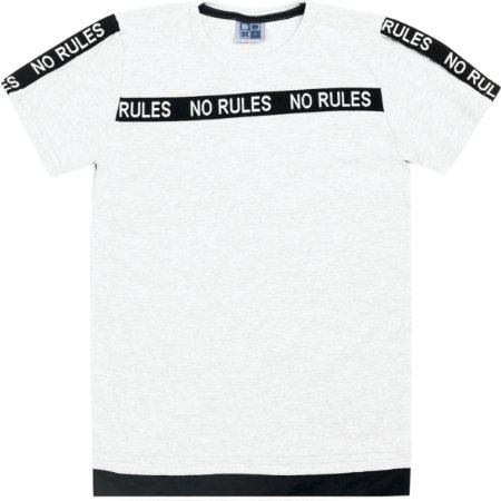 Camiseta Infantil Menino No Rules Branco