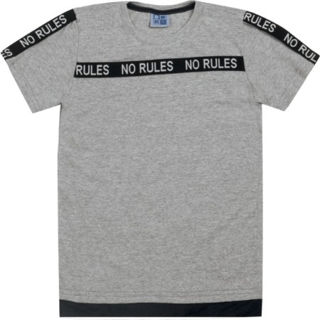Camiseta Infantil Menino No Rules Mescla