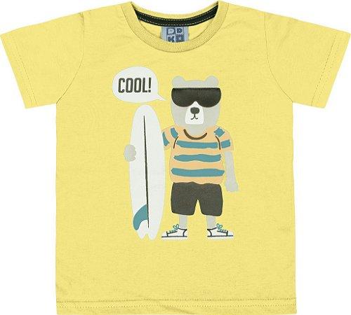 Camiseta Bebê Menino Cool Amarelo