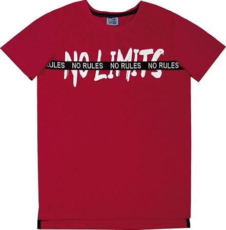 Camiseta Juvenil Menino No Limits Vermelho
