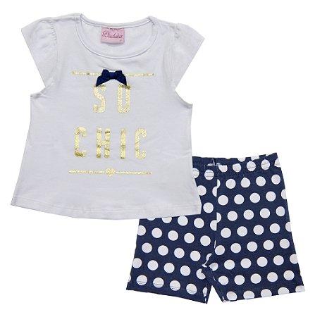 Conjunto Infantil Menina Chic Azul