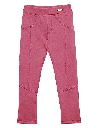 Calça Montaria com Plaquinha de Metal Rosa