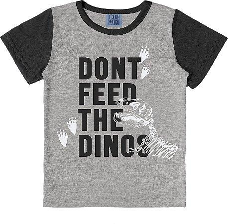 Camiseta Infantil Menino Dinos Mescla