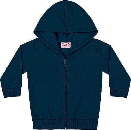 Jaqueta Em Moletom Peluciado Azul