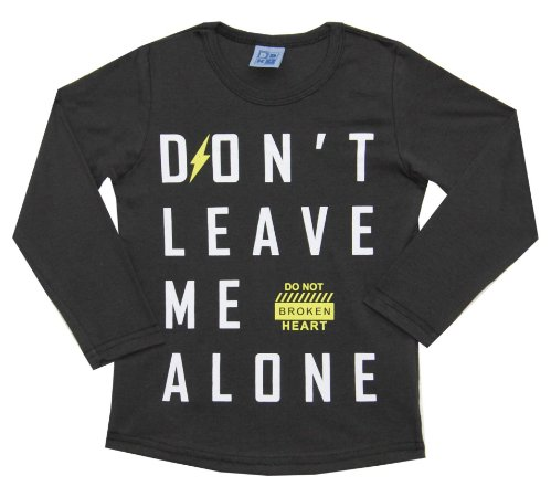 Camiseta Infantil Menino Don't Leave Me Alone Marrom