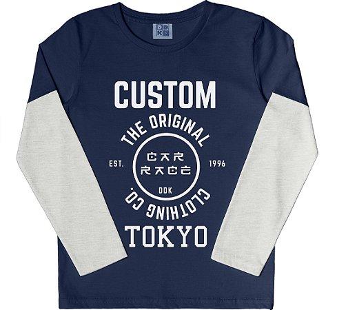 Camiseta Infantil Menino Custom Azul