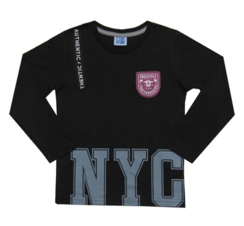 Camiseta Infantil Menino NYC Preto