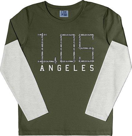 Camiseta Infantil Menino Los Angeles Verde