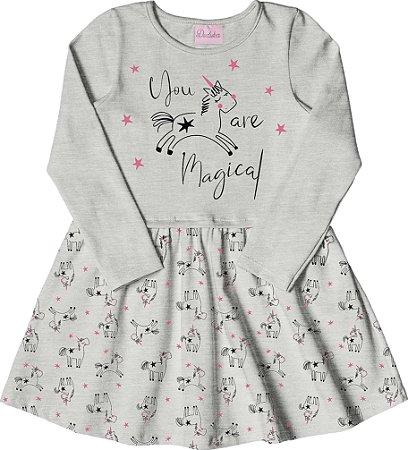 Vestido Infantil Menina Magical Bege