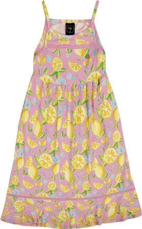 Vestido Infantil Menina Midi Rosa