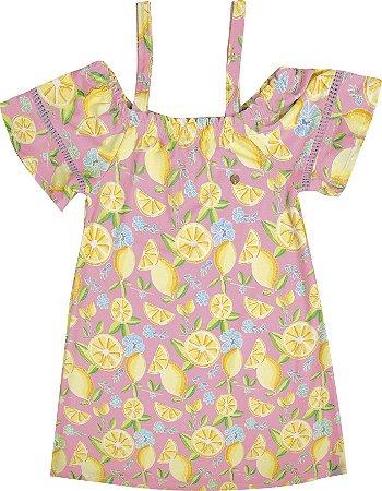 Vestido Infantil Menina Ciganinha Rosa