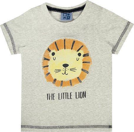 Camiseta Bebê Menino Lion Mescla claro