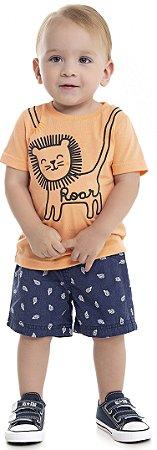 Camiseta Bebê Menino Roar Laranja
