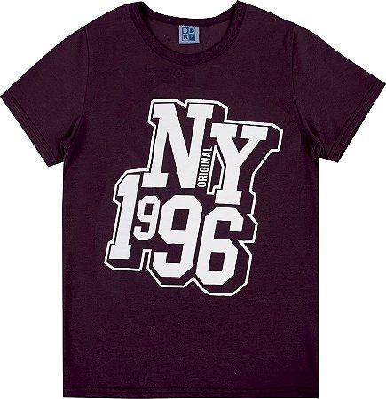 Camiseta Juvenil Menino NY 1996 Bordo