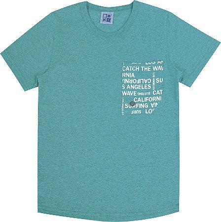 Camiseta Infantil Menino com Bolso Verde