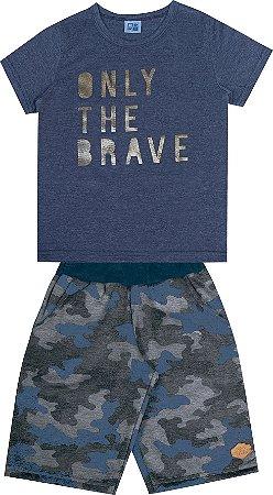 Conjunto Infantil Menino Only The Brave Azul