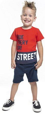 Conjunto Infantil Menino Street Laranja