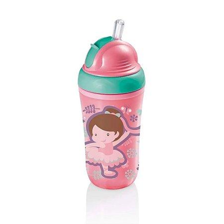 Copo Térmico Com Canudo De Silicone Cool Rosa 24M+ Multikids Baby - BB035