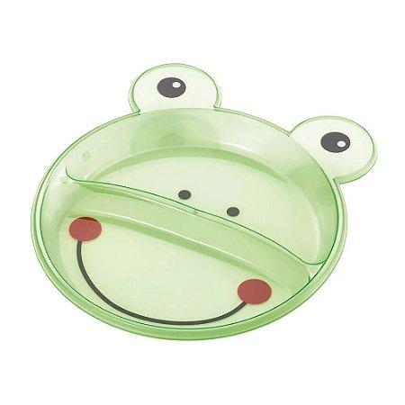 Prato Raso Com Divisórias Funny Meal (Sapo) Multikids Baby - BB047