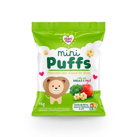 Mini Puffs Snack Integral - Brócolis E Maçã 6 Unidades 15g