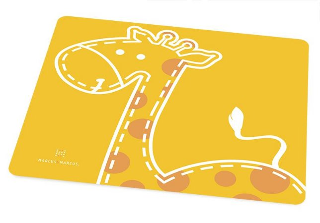 Jogo Americano Em Silicone Girafa