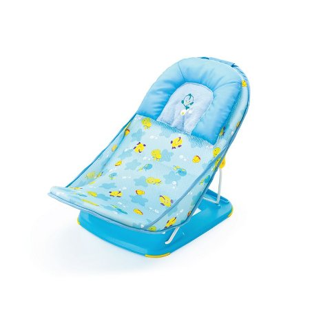 Assento Flexível Redutor para Banheira - Azul Peixes