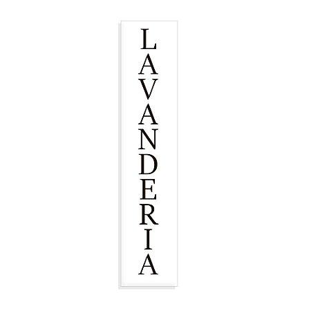 Placa Decorativa Vertical Lavanderia bca