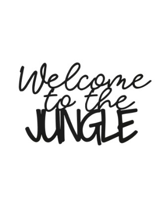 Lettering Welcome to the jungle