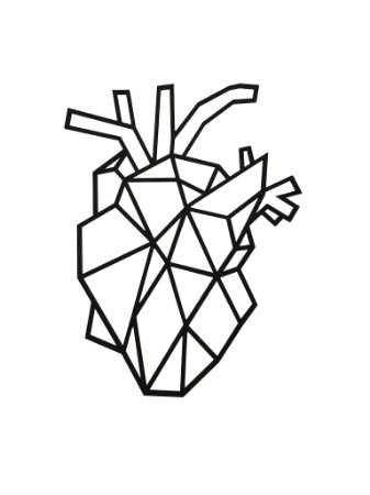 Coração humano Geométrico