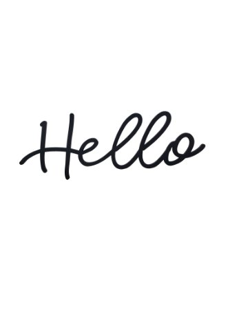 Lettering Hello