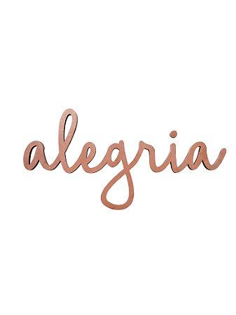 Lettering ALEGRIA COBRE