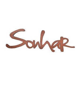 Lettering Sonhar COBRE