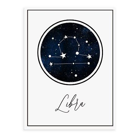Placa decorativa Constelação Libra