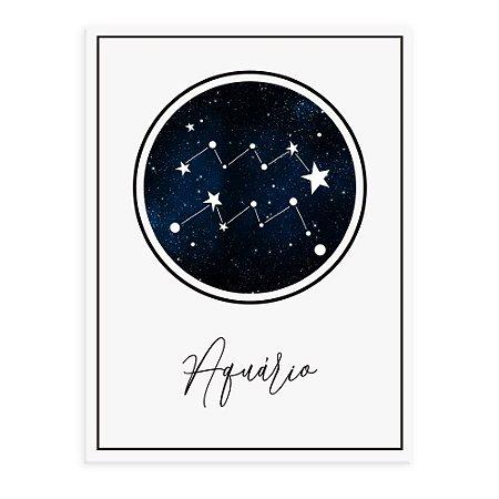 Placa decorativa Constelação Aquário