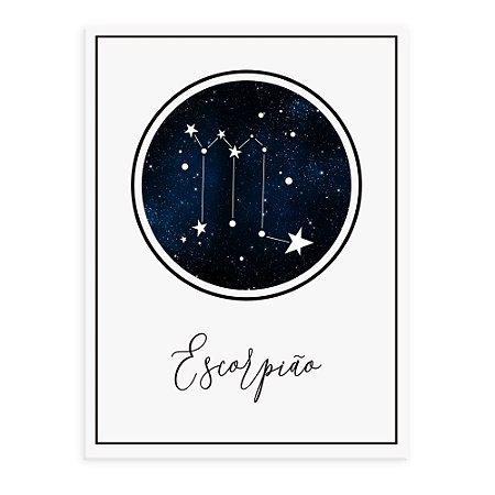 Placa decorativa Constelação Escorpião