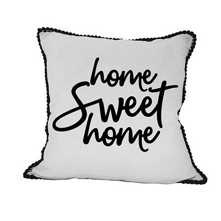 CAPA de Almofada Home Sweet Home pompom