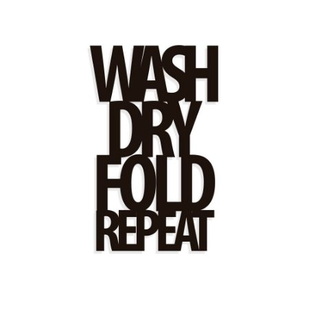 Lettering Wash Dry Fold Repeat