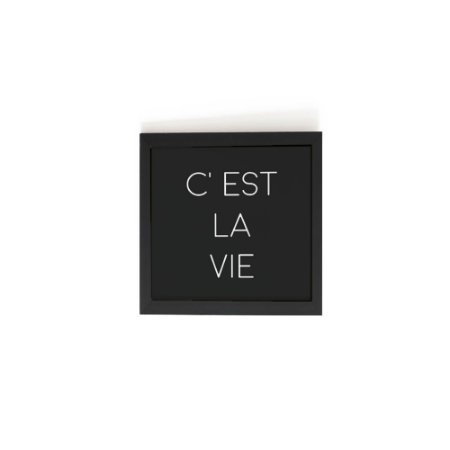 Quadro C'est La Vie (13x13cm)