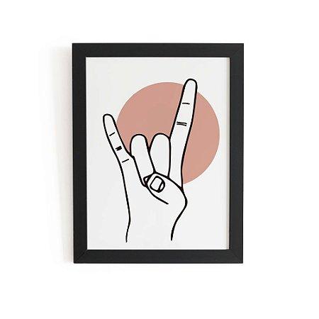 Quadro Hands Rock (33x43cm)