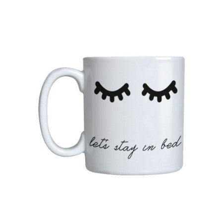 Caneca cerâmica Lets stay in bed