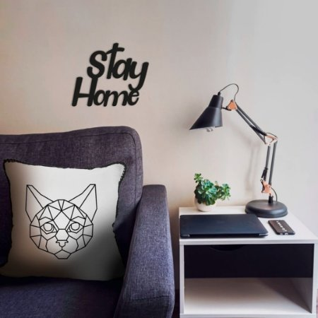Lettering Stay Home