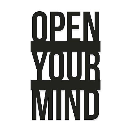 Decorativo de Parede open your mind