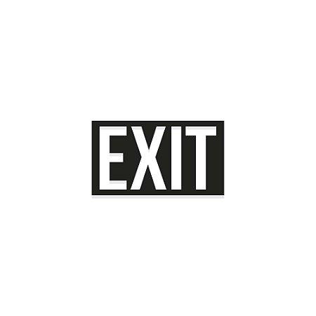 Placa vazada EXIT