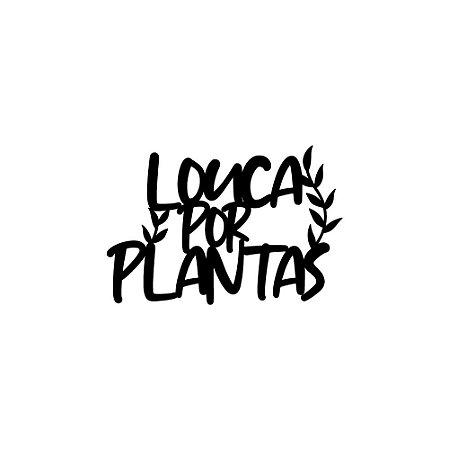 Placa decorativa loucA por plantas