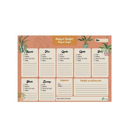 Planner semanal Minhas Plantas