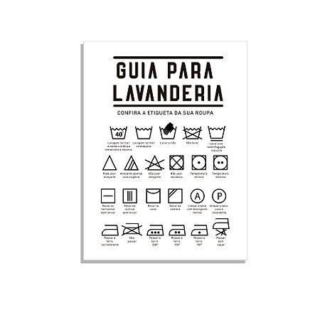 Placa Decorativa  Guia para Lav branco
