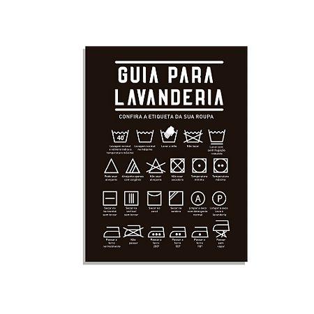 Placa Decorativa  Guia para Lav preto
