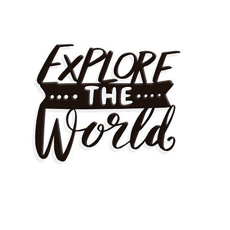 Placa Decorativa Explore World
