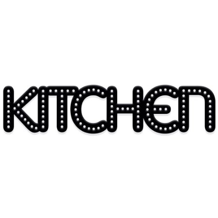 Lettering kitchen